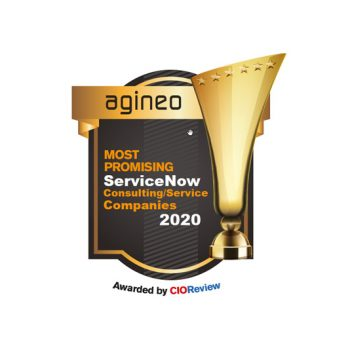 """Auszeichung / Siegel vom Magazin CIOReview als """"Most Promising ServiceNow Consulting Company 2020"""