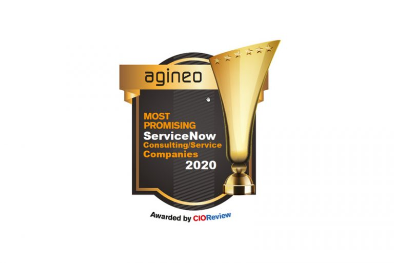 "Auszeichung / Siegel vom Magazin CIOReview als ""Most Promising ServiceNow Consulting Company 2020"