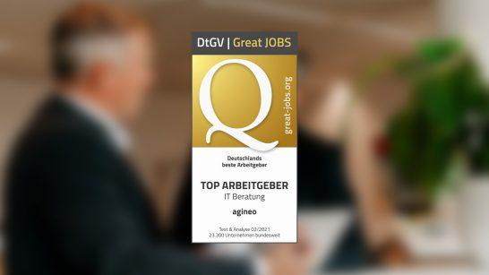 Siegel von Great-Jobs.org für Top Arbeitgeber in der IT ©Great JOBS