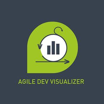 "Grünes Logo von agineos ServiceNow-App ""Agile Development Visualizer"" ©agineo"