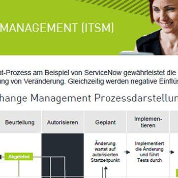 """Screenshot vom agineo-Onepager """"Change-Management-ITSM"""""""