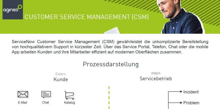 Bildausschnitt des Onepagers Customer Service Management